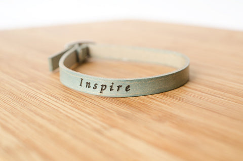 Inspire Skinny Adjustable Leather Bracelet