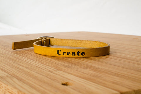 Create Custom Skinny Adjustable Leather Bracelet