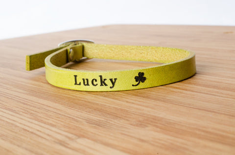 Lucky Single Wrap Leather Bracelet