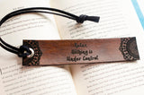 Relax Nothing is Under Control Mandala Engraved Leather Bookmark
