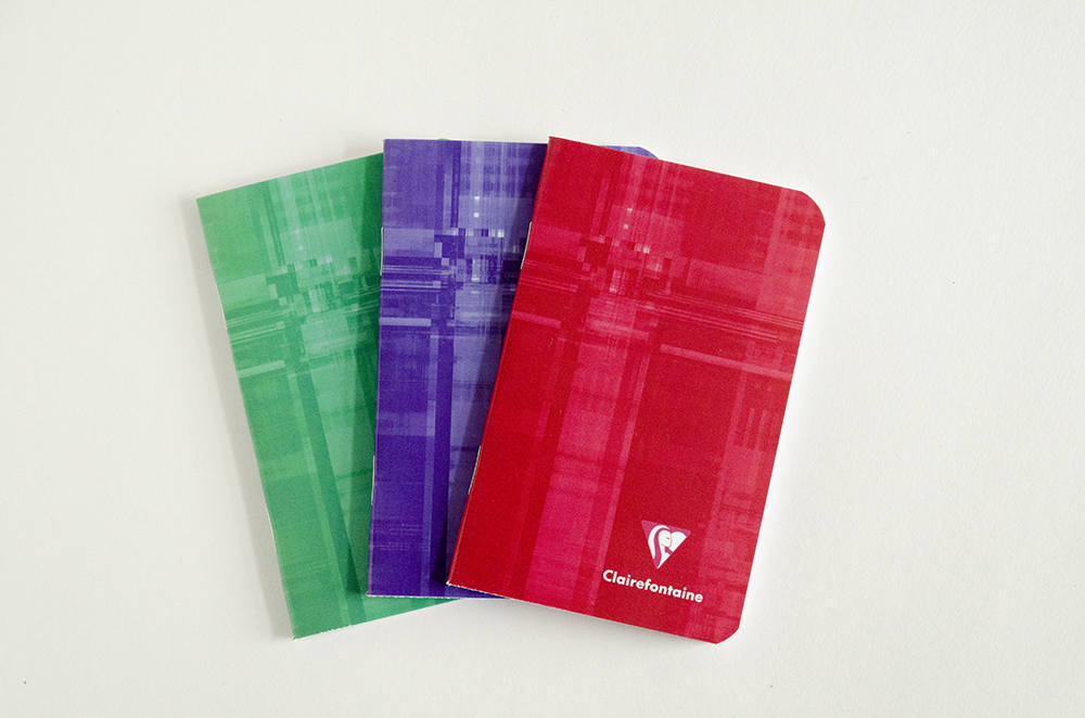 Clairefontaine Classic Notebooks Side Staplebound 3 x 4 Lined Assorted Covers 24 sheets