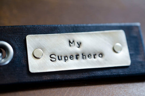 My Superhero - Leather Tag Keychain