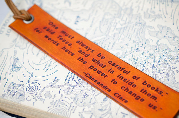 Books have the Power to Change Us - Cassandra Clare - Leather Bookmark