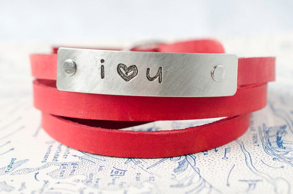 i ❤  u - Leather Wrap Bracelet