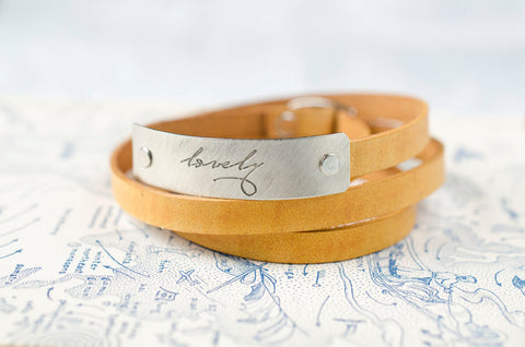 lovely -  Leather Wrap Bracelet