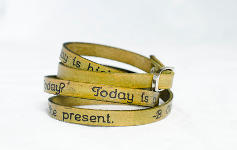 Today is a Gift Thats Why We Call It The Present - Ultra Long Wrap Bracelet