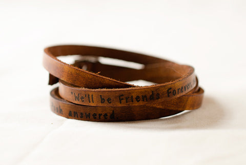 Friends Forever, Winnie the Pooh Ultra Long Leather Wrap Bracelet