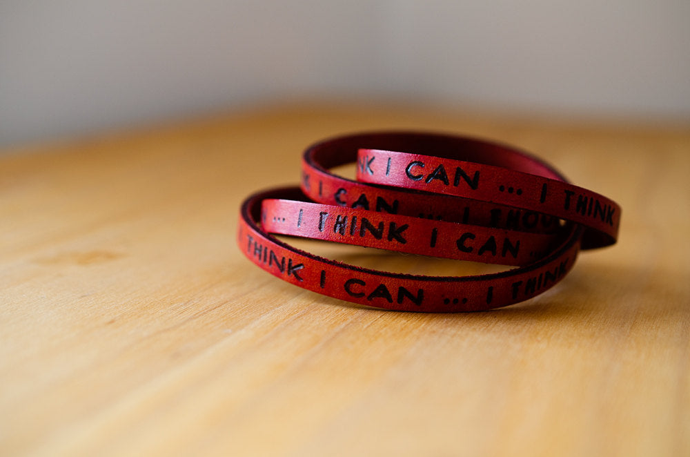 I think I can - The Little Engine that Could -  Ultra Long Wrap Bracelet
