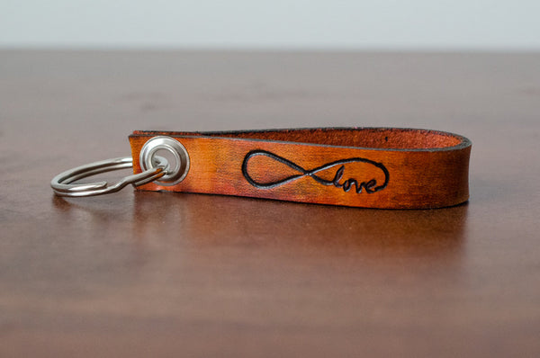 Love Always Infinity Leather Keychain