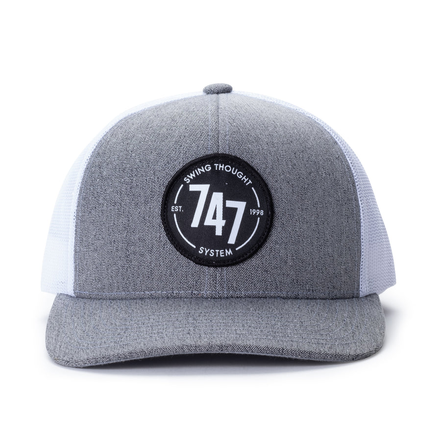 747 Trucker Hat (Grey/White)