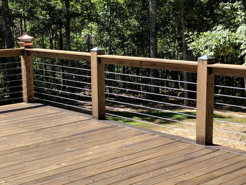 Cable deck railing Georgia Swageless fittings