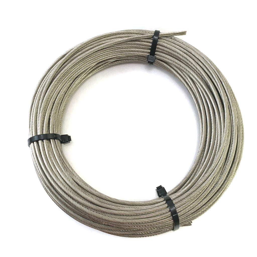 "1x19 Stainless Steel Cable 1/8"" - 100ft. coil"