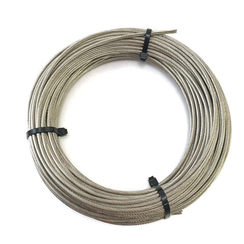 "1x19 Stainless Steel Cable 1/8"" and 3/16"" - 100ft. coil - PanoRAIL®"