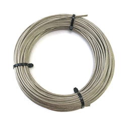 100 foot coil of 1x19 stainless steel wire rope cable