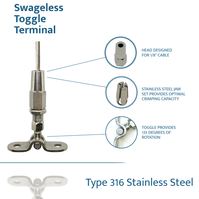 Swageless Terminal Deck Toggle - PanoRAIL®