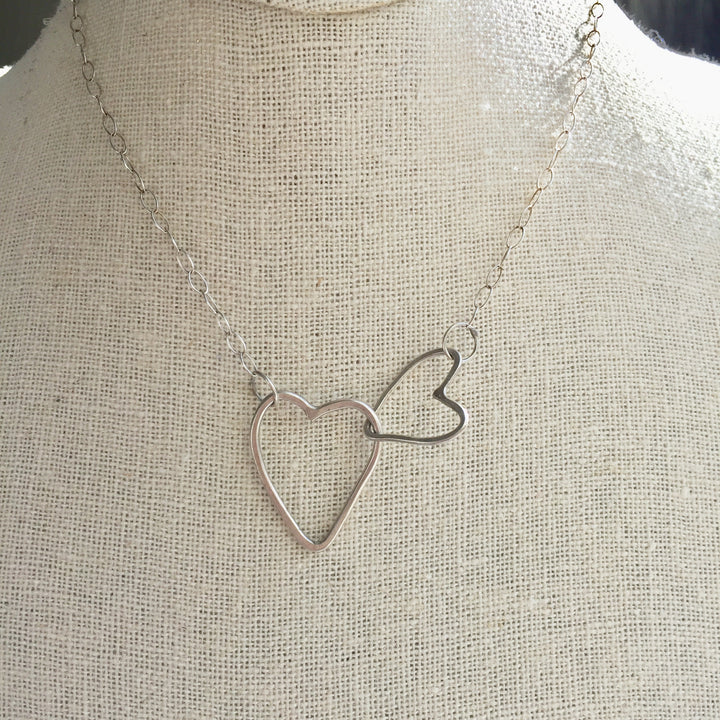 Hammered heart necklace, perfect gift for your special person Hearts year round