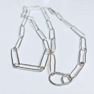 Argentium Silver linked necklace