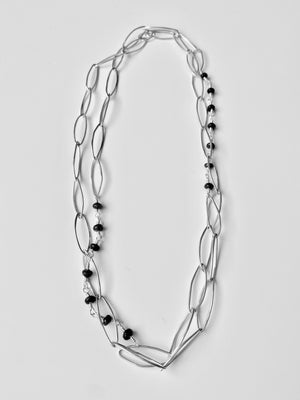 Made to order: Handmade chain with sapphire beads wire wrapped