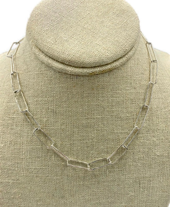 Hand formed rectangle shaped necklace
