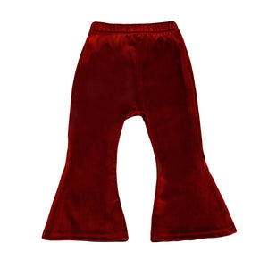 Velvet Bell Bottom Trousers