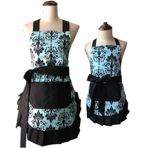 Retro Mother and Daughter Apron