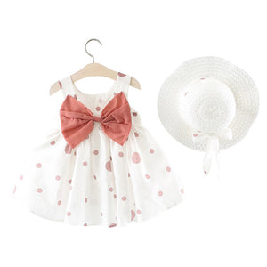 Cotton A-Line Dress and Hat