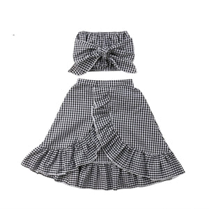 Crop Top and Ruffle Skirt Set