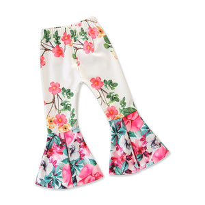Floral Bell Bottom Trousers