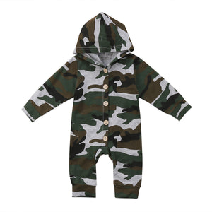 Camo Long Sleeve Jumpsuit