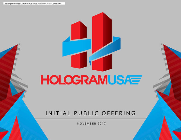 Hologram USA Convertible Promissory Note To Shares $8.00 - Minimum $400