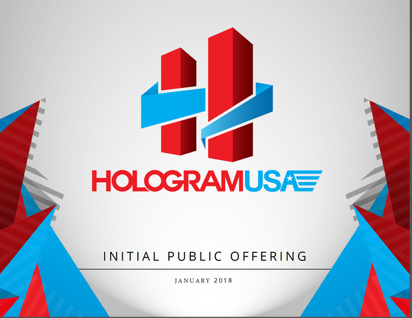 $3500/437 Shares Hologram USA Convertible Promissory Note To Shares opening value is $8.00