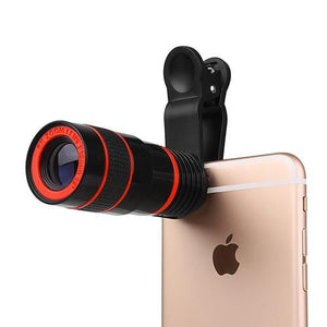 Camera  8x Zoom Lens with Clip System