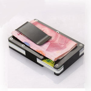 Minimalist Metal Card Holder - RFID Blocking