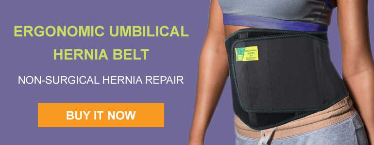 Ergonomic umbilical hernia belt