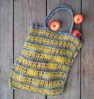 Jute Tote Bag - Yellow - Chickadee Way