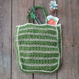 Jute Tote Bag - Green - Chickadee Way