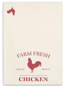 Fresh Farm Chicken Kitchen Tea Towel