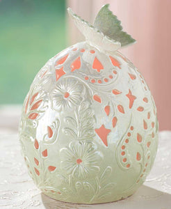 Porcelain Butterfly LED Eggs - Chickadee Way
