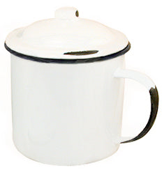 Dave's Enamel Mug with Lid - 20 oz