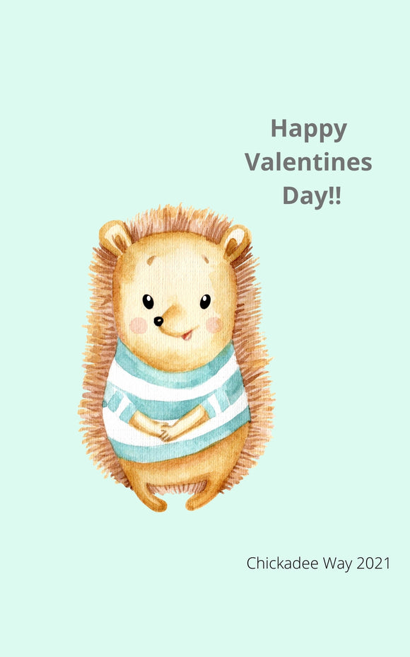 Happy Valentine's Day Hedgehog