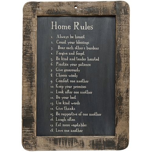 Home Rules - Chickadee Way