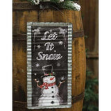 """Let It Snow"" Sign - Chickadee Way"