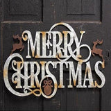 Metal Merry Christmas Signs