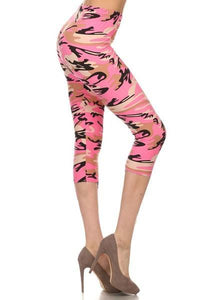 Pink Camo Leggings - Chickadee Way