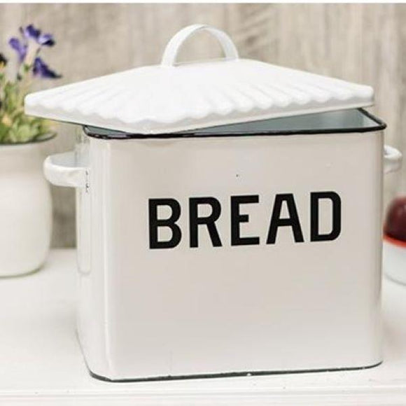 Enamel Ware Bread Box - Chickadee Way