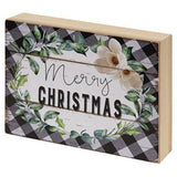 Buffalo Plaid Christmas Sill Sitter - Chickadee Way