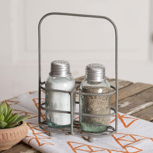 Salt and Pepper Carrier with Shakers - Chickadee Way