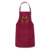Christmas Apron - burgundy