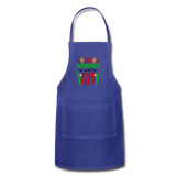 Christmas Apron - royal blue