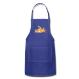 Fall Apron - royal blue